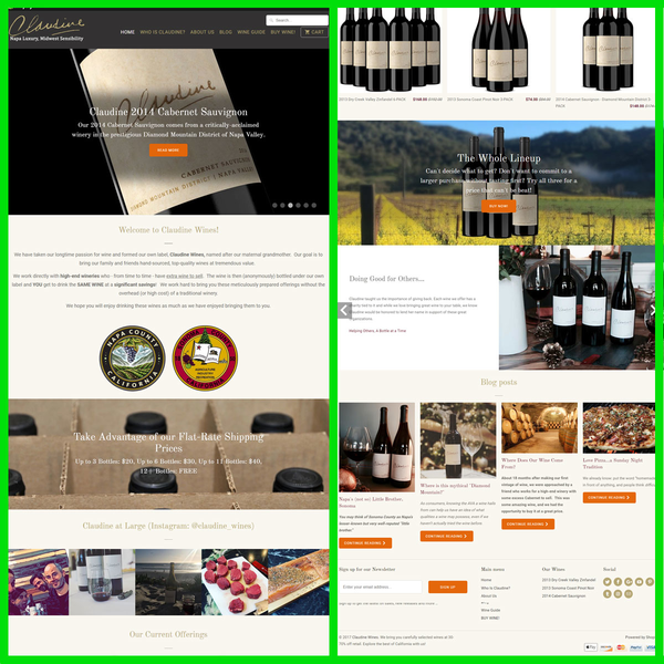 Shopify Design for Wine Shop
