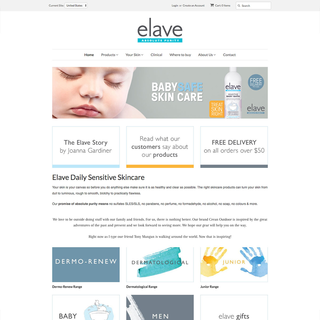 Elave Shopify Website