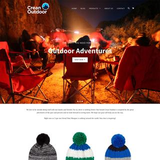 CreanOutdoor Shopify Website