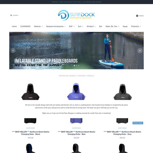 Surfdock Shopify Website