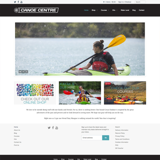 Canoe Centre Shopify Website