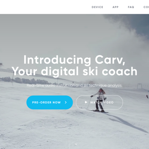 Carv Ski Wearable Homepage