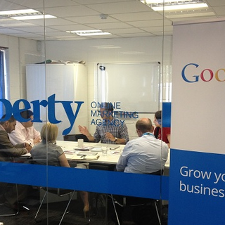 The Google team in one of our meeting rooms