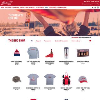 The Bud Shop: www.shop.budweiser.com