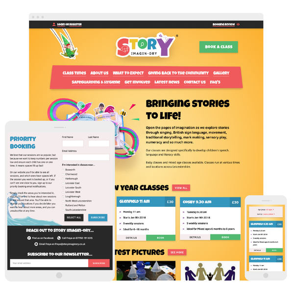 Bespoke design and development for Story Imagin-ory