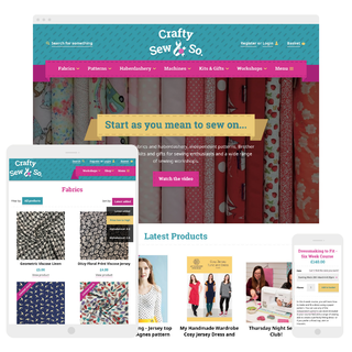 Bespoke design and development for Crafty Sew & So