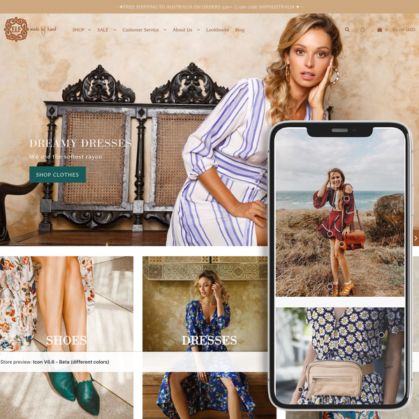 Bali Elf Custom Icon theme with shoppable look book