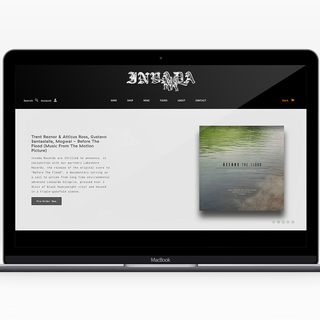 Setup and custom site for record label.