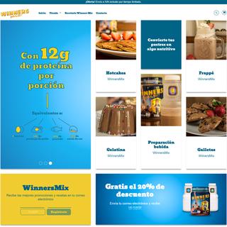 winnersmix.myshopify.com | Tienda de venta de proteína para toda la familia