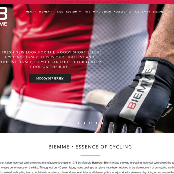 Biemme is an Italian technical cycling clothing manufacturer founded in 1978 by Maurizio Bertinato.