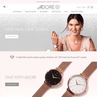 Adore Jewelry - Full Site Build / Develop