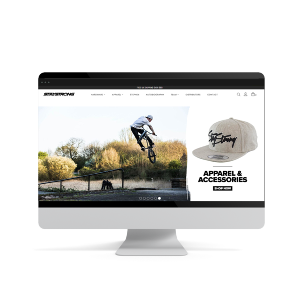 Shopify Setup and Design for www.staystrongbrand.com