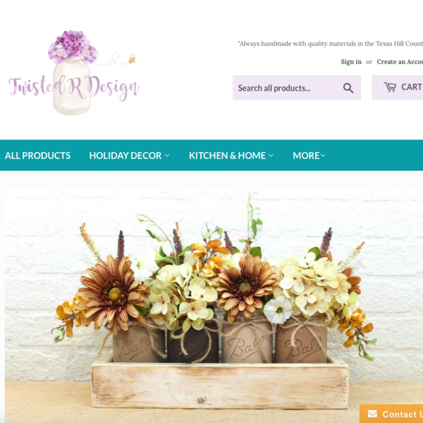 Twisted R Design - Shopify set-up using free theme