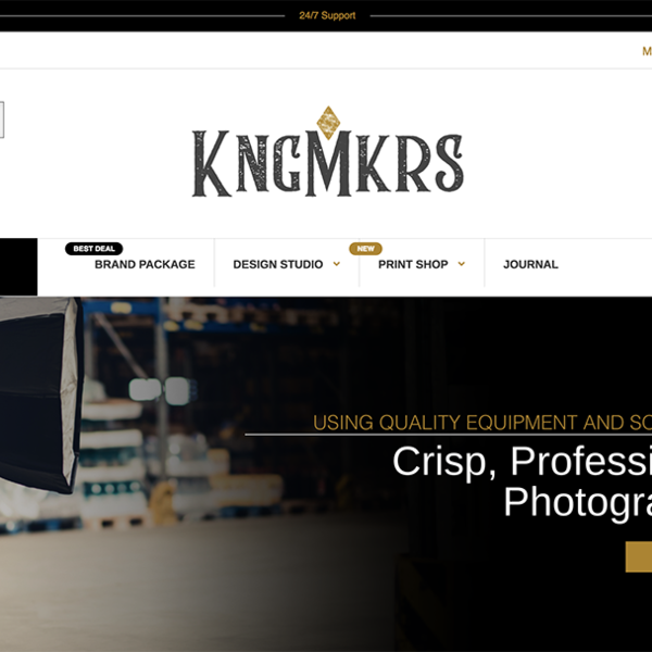 KNGMKRS Home Page Above Fold