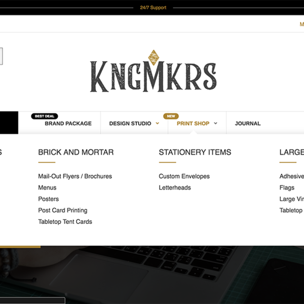KNGMKRS Home Menu