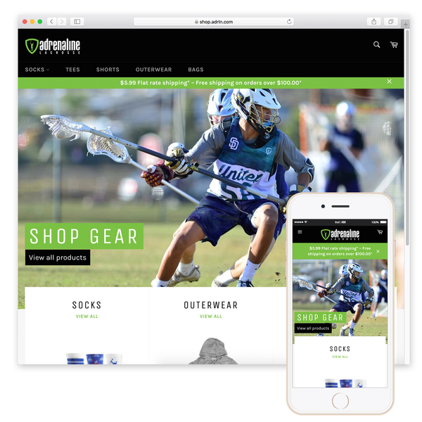ADRLN (Lacrosse lifestyle brand for events + gear)