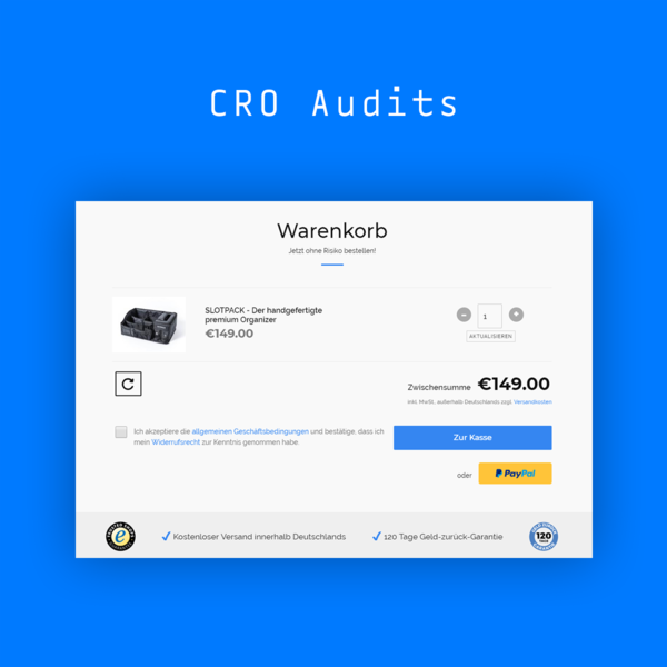 CRO-Audits: www.slotpack.de   www.haselundgretel.at