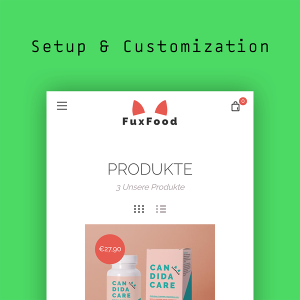 Shopify Store Setup & Theme Customization: www.fuxfoods.de