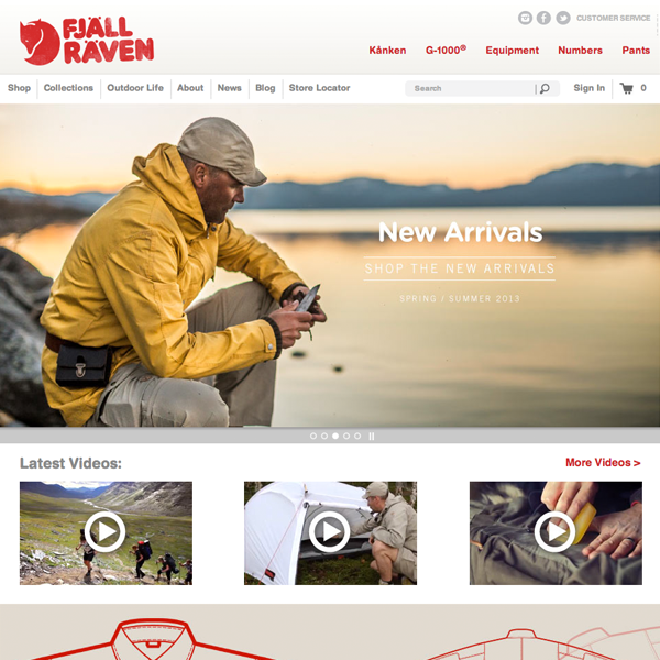 Fjallraven custom Shopify theme design and development