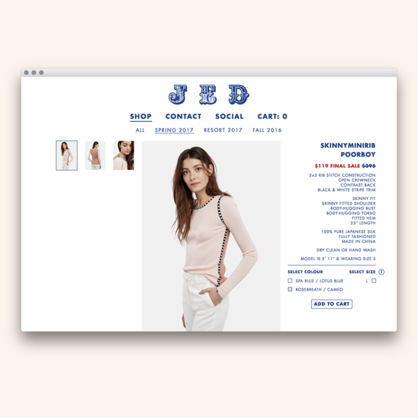 Fully custom theme design and development for JED.