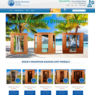 Rocky Mountain Saunas was a migration from an old self-hosted cart.