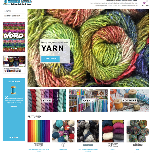 Knitting & Quilting Supply Store with a large catalog of items with many variants