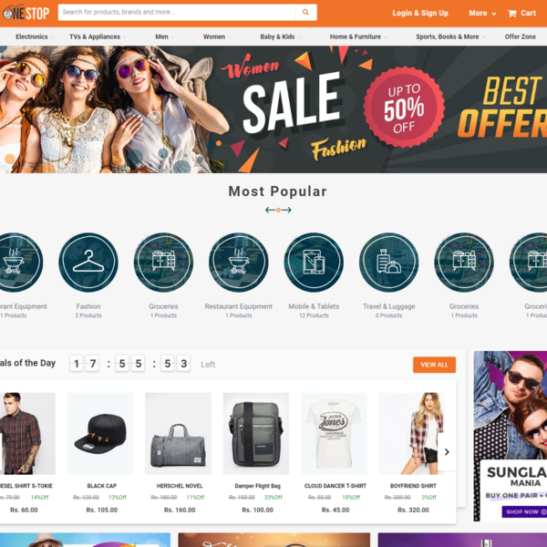 Custom developed eCommerce store with custom functionalities