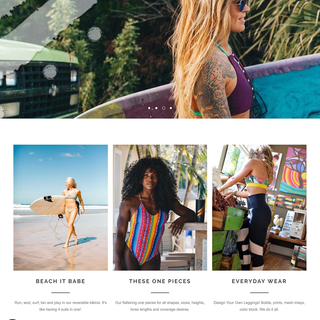 SavageSwim.com handmade local products with custom bikini builder. Unlimited drop downs.