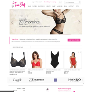 Town Shop Home Page Design