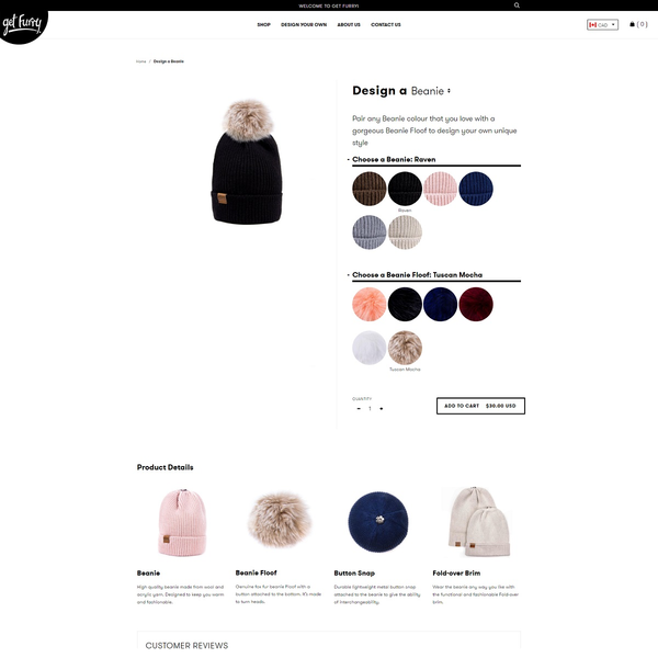 Get Furry Product Customization Preview
