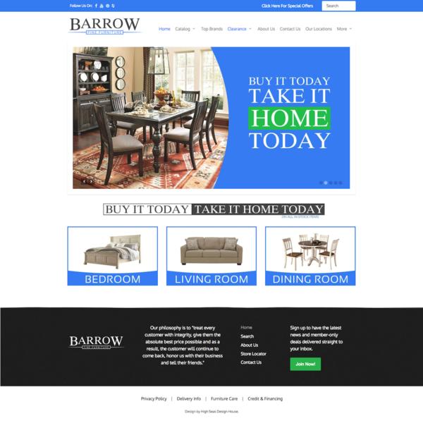 Barrow Fine Furniture Website