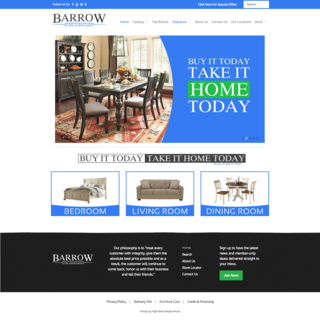 Barrow Fine Furniture Website
