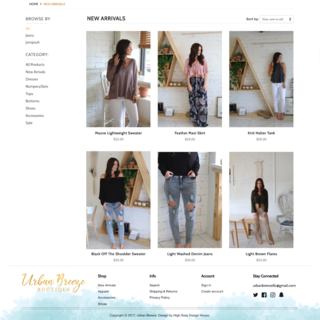 Urban Breeze Collection Page