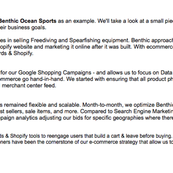Benthic Ocean Sports Marketing Case Study