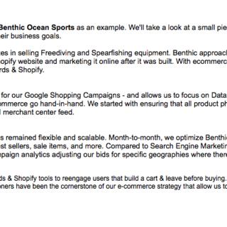 Benthic Ocean Sports Marketing Case Study