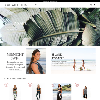 Blue Athletica, PSD to Shopify