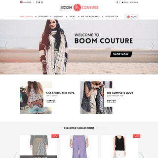Boom Couture, PSD to Shopify