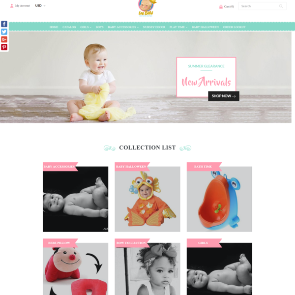 les-bebe, PSD to Shopify, Custom Theme Development