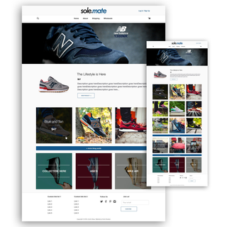 This theme is designed to for a mobile-first Instagram-like user experience.