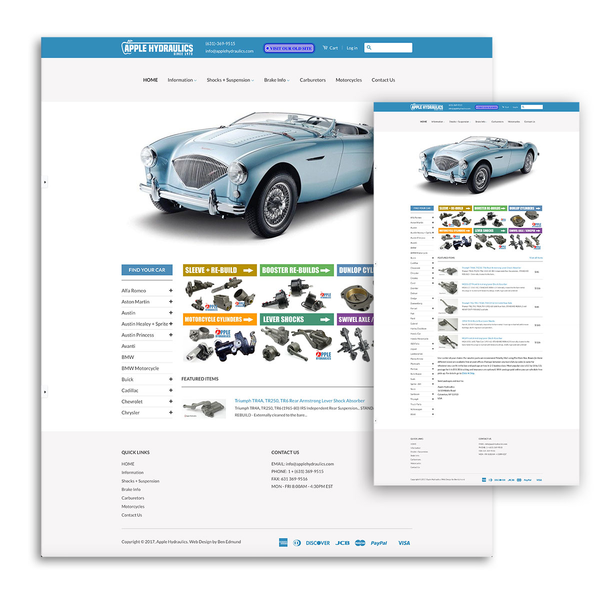 This site was built with a custom navigation to handle a large amount of product categories.