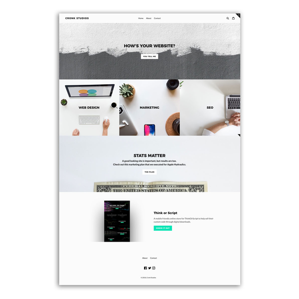 Of course our site is built on Shopify!