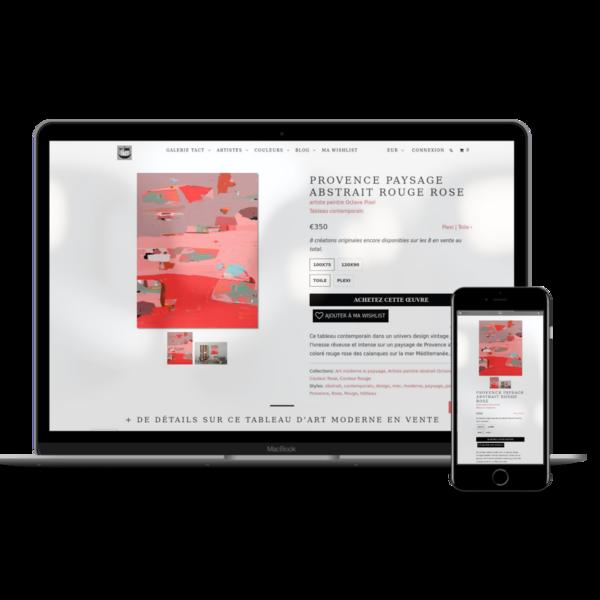 Website for a contemporary art gallery www.galerietact.com