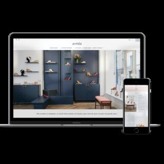 Site ecommerce de chaussures sur mesure aymee.com