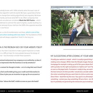 Ayla Gloves: Website Audit Example