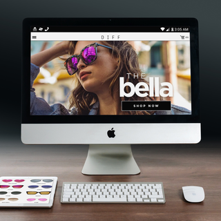 DIFF EYEWEAR -custom theme and graphics/integrated shoppable instagram