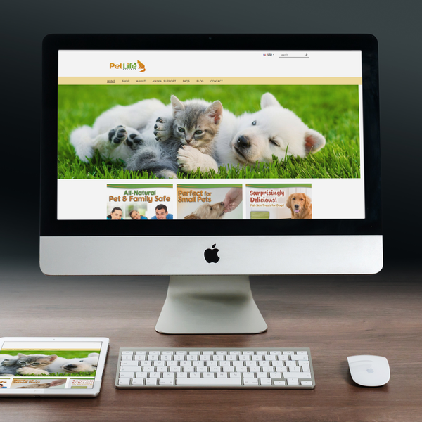 Petlifescience-custom graphics/amazon intergration-new theme