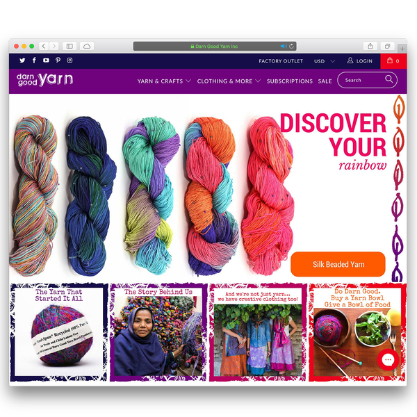 Darn Good Yarn - FedEx Small Business Grand Prize Award Winner - Shopify Plus (www.darngoodyarn.com)