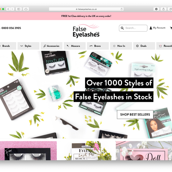 FalseEyelashes.co.uk - Shopify Plus + Recharge