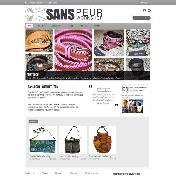 Sans Peur: A high end fashion store