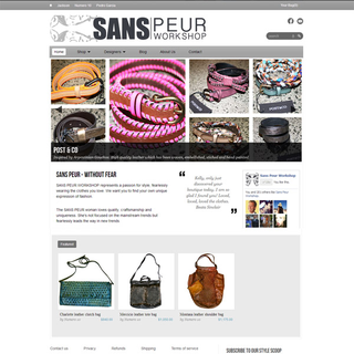 ShopLab - Ecommerce Marketer / Setup Expert - Sans Peur: A high end fashion store